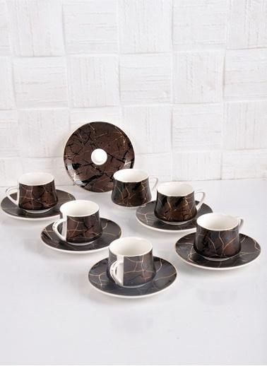 Bayev Elegance 6 Lı Kahve Fincanı - 101171 Renkli